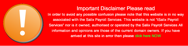 Salix Payroll Services disclaimer